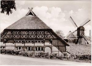 Altona Hamburg Rieck-Haus, Curslack, mit Schöpfmühle und Scheune 1968