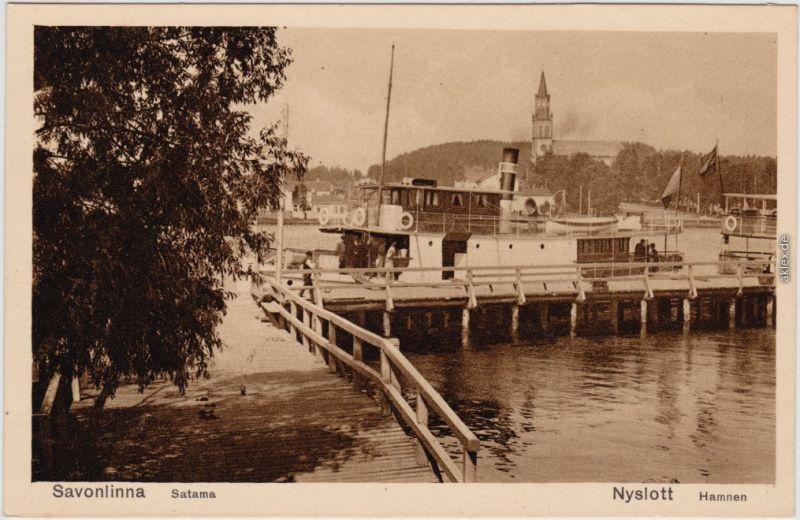 Savonlinna Ankunft des Dampfers  - Stadt Südsavo Suomi 1936