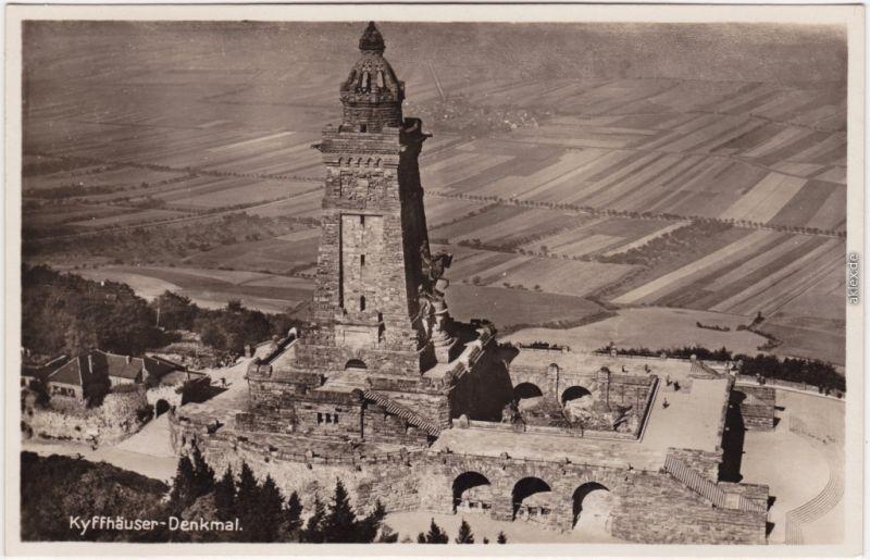 Kelbra (Kyffhäuser) Luftbild  Kaiser-Friedrich-Wilhelm-  Denkmal 1930