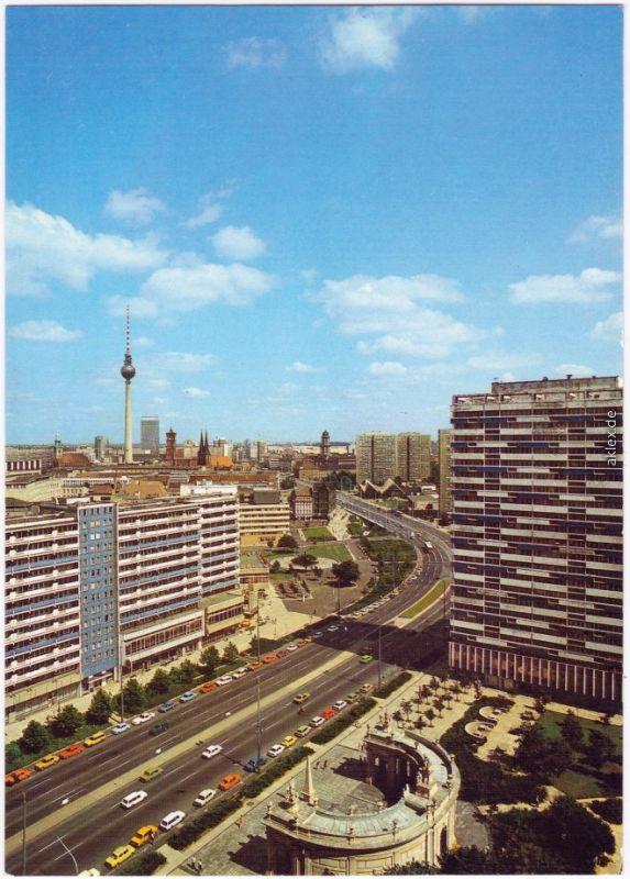 Ansichtskarte Mitte Berlin Blick auf die Leipziger Straße 1986