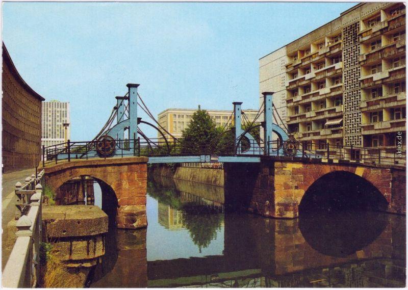 Ansichtskarte Mitte Berlin Berlin Jungfernbrücke 1986