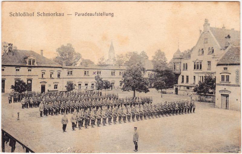 Schmorkau-Neukirch (bei Königsbrück) Šmorkow Paradeaufstellung 1918