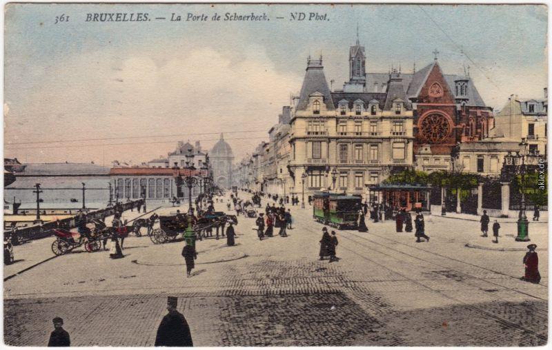 Ansichtskarte Brüssel Bruxelles La Porte de Schaerbeek 1911