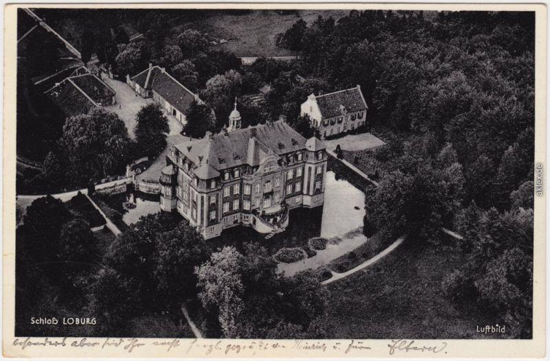 Ostbevern Luftbild Schloß Loburg Ansichtskarte Warendorf 1939