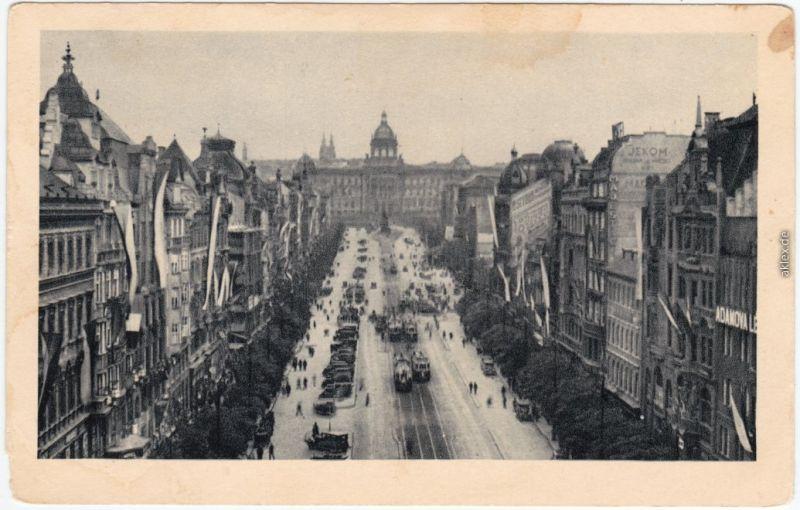 Prag Praha Wenzelplatz 1930