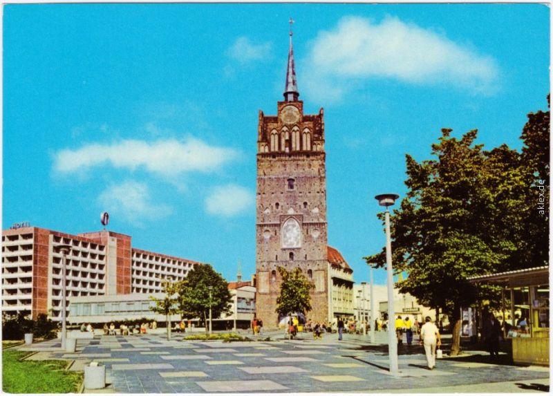 Ansichtskarte Rostock Kröpeliner Tor 1981