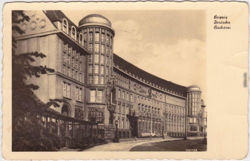 Leipzig Deutsche Bücherei - Außenansicht (Rückseite:  1952
