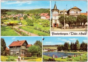 Finsterbergen Friedrichroda Volkshaus, Café Waldschlößchen, Schwimmbad 1973