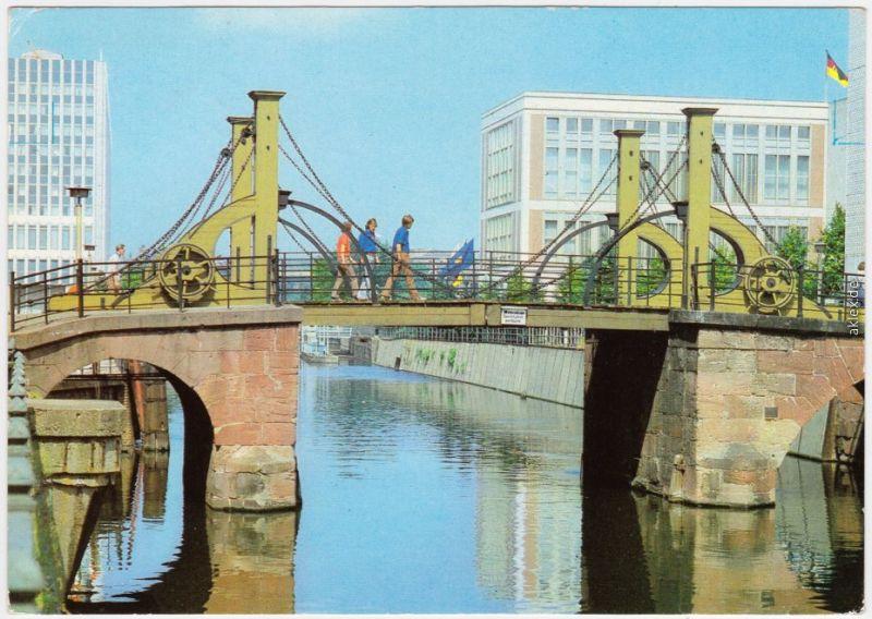 Mitte Berlin Berlin Jungfernbrücke Nicolaiviertel Ansichtskarte  1981