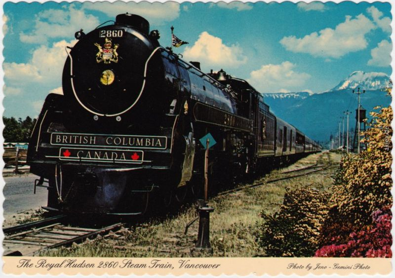 The Royal Hudson 2860 Steam Train Vancouver, B.C., Canada  Dampflok  1978