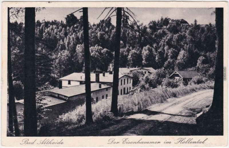 Bad Altheide Polanica-Zdrój Eisenhammer im Hölental 1927