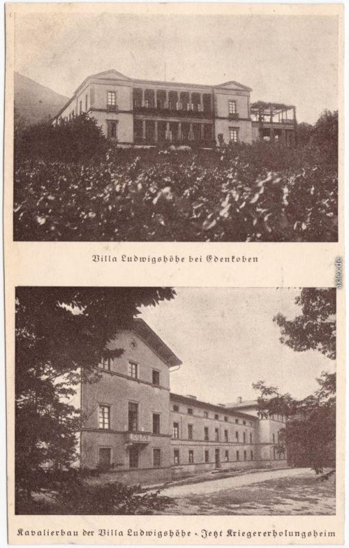 Edenkoben 2 Bild Villa Ludwigshöhe und Kavalierhaus 1929