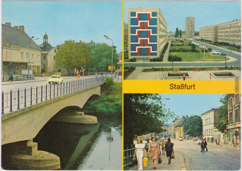 Staßfurt Schwimmbad staßfurt stassfurt bodenbrücke am leninring karl marx straße 1977