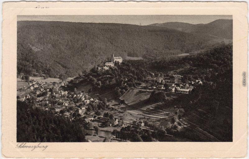 Schwarzburg Panorama-Ansichten: Blick vom Trippstein 1930