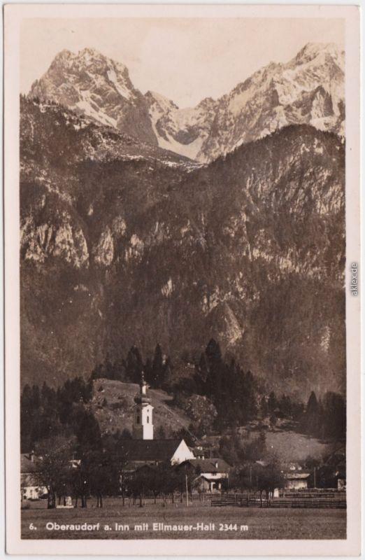 Foto Ansichtskarte Oberaudorf Die Stadt am Inn  Ellmauer-Halt (2344 m) 1930