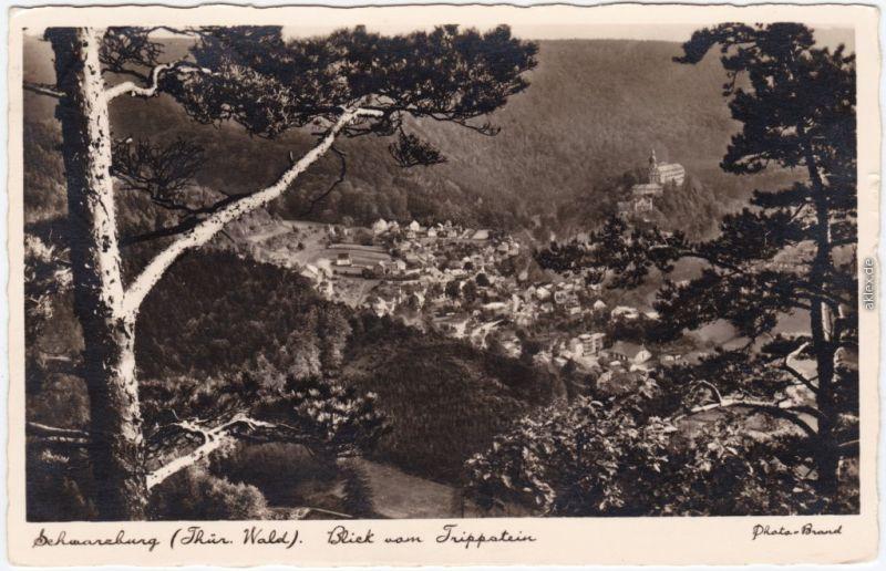 Schwarzburg Panorama-Ansichten: Blick vom Trippstein 1937