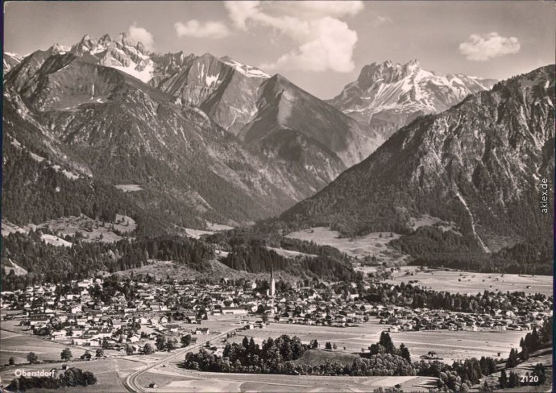 Oberstdorf (Allgäu) Panorama-Ansichten 1967