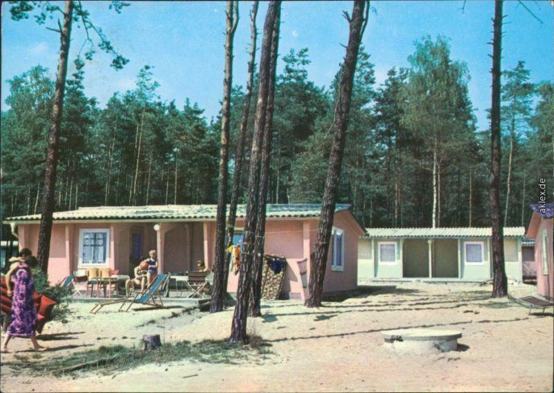 Deutschbaselitz Bungalowsiedlung  Ansichtskarte b Kamenz 1973