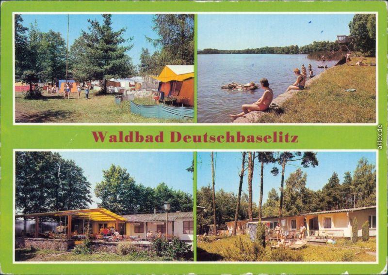 Deutschbaselitz Waldbad mit Campingplatz, Gaststätte, Bungalowsiedlung 1987