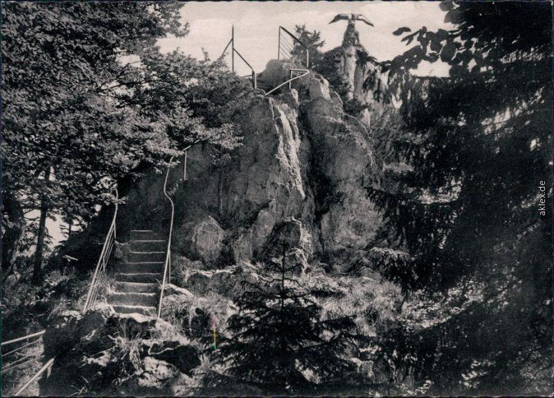 Bad Grund (Harz) Aufgang zum Hübichenstein Foto Foto Ansichtkarte 1966