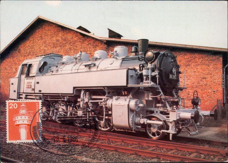 Neuenmarkt Oberfranken Güterzug-Tenderlokomotive Koppel  DDM-Museumsgeäude 1986