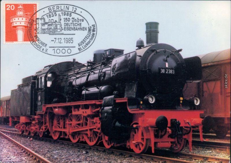 Personenzug-Lokomotive - Typ: 38 2383, Hersteller: Henschel u. Sohn 1985