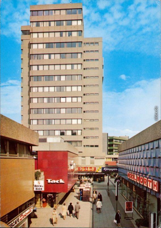 Leverkusen Blick auf das Hochhaus  Friedrich-Ebert-Platz (Einkaufszentrum) 1978