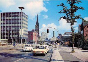 Altstadt Hamburg  Willy-Brandt-Straße (Ost-West-Straße) - mit Verkehr  1982