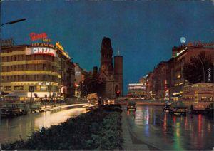Ansichtskarte Charlottenburg Berlin Kurfürstendamm bei Nacht 1984