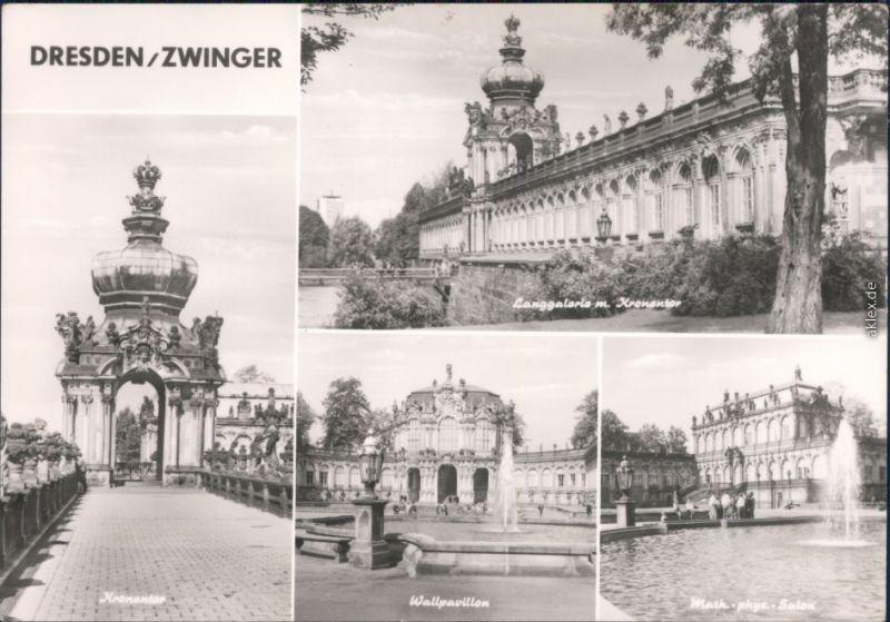 Altstadt Dresden Kronentor,Langgalerie,Wallpavillion,MathPhys-Salon 1976