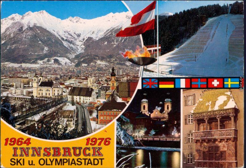 Innsbruck Olympische Winterspiele 1964 und 1976  Ansichtskarte 1993
