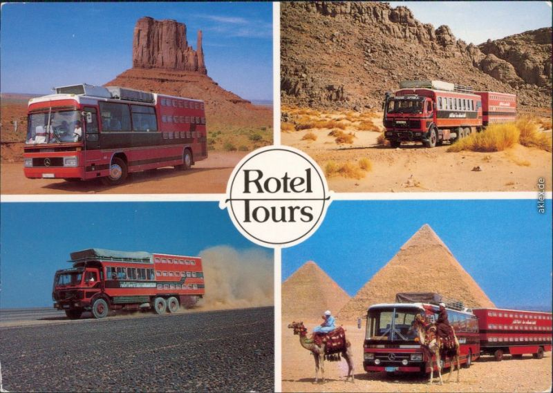 Rotel Tours - Bussreisen - USA - Ägypten, Die Grössten Bussreisen der Welt 1994