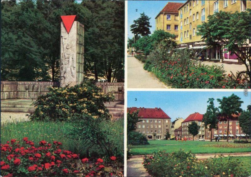 Niesky Niska 1. VVN-Ehrenmal, 2. Straße der Befreiung, Zinssendorfplatz 1980