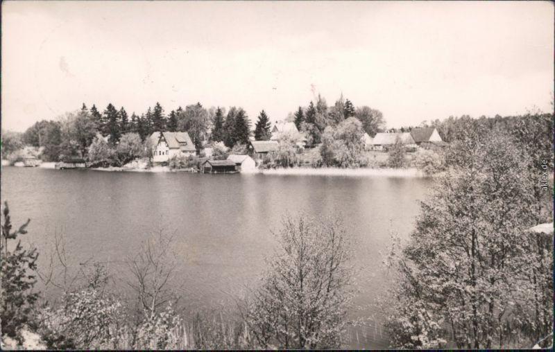 Foto Ansichtskarte Zechlinerhütte Rheinsberg Panorama-Ansicht 1966