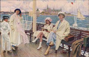Hillerød  Dänische Kunst-Paul Fischer: Ferienzeit, Sommerdag paa Færgen 1918