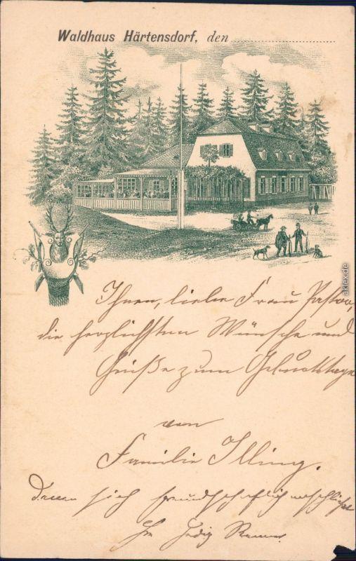Härtensdorf Wildenfels (Erzgebirge) Vorläufer AK: Waldhaus Härtensdorf 1900