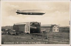 Foto Ansichtskarte Friedrichshafen L3 / L3 129 i der Halle Zeppelin 1936