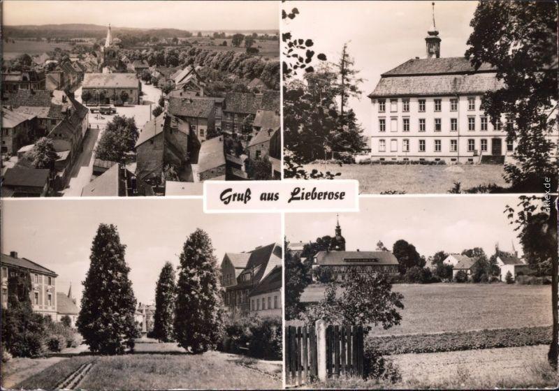 Lieberose Blick vom Kirchturm  Stadt, Schule, Kleine Allee, Feld  Kirche 1969