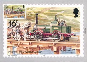Port Erin Railway and Tramways of the Isle of Man Sondermarke  1988
