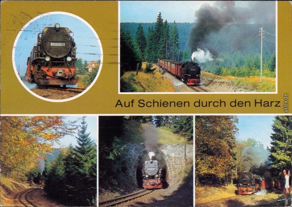 Harzquerbahn, auf Schienen durch den Harz Ansichtskarte Bild Heimat 1986