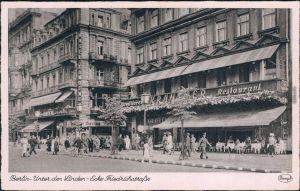 Mitte Unter den Linden  - Ecke Friedrichstraße Restaurant Kranzler 1934