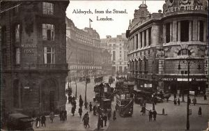 London Aldwych, from the Strand, Morning Post vintage postcard 1926