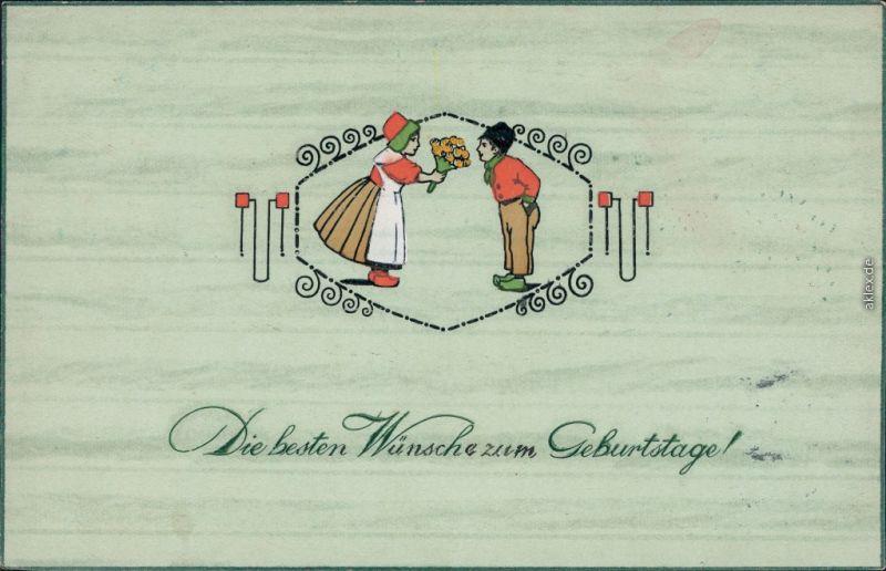 Gluckwunsch Geburtstag Mann Und Frau 1913 Pragekarte