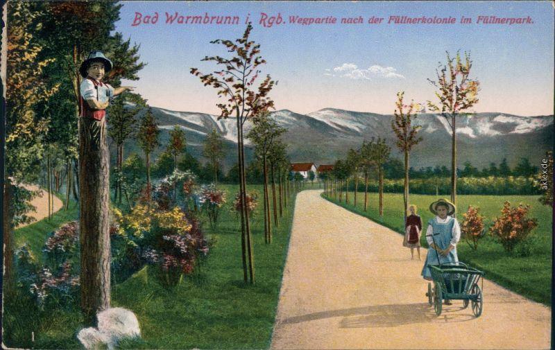 Bad Warmbrunn-Hirschberg  Jelenia Góra Füllnerpark   der Füllnerkolonie 1916