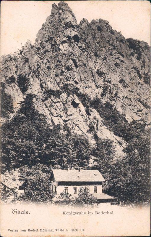 Thale Harz Treseburg Haus Königsruhe im Bodethal Ansichtskarte 1911