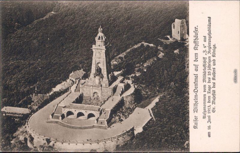 Kelbra  Kyffhäuser Luftbild - Militätluftschiff Kaiser- Wilhelm- Denkmal 1913