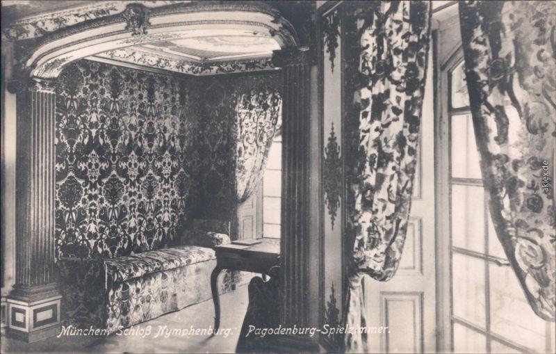 Ansichtskarte München Schloß Nymphenburg  - Pagodenburg Spielzimmer 1924