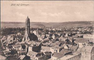 Ansichtskarte  Göttingen Blick über die Dächer der Stadt 1926