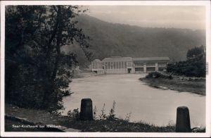 Ansichtskarte Mettlach Blick auf die Saar-Kraftwerke 1938