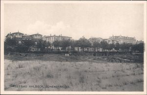 Ahlbeck (Usedom) Dünenstrasse Ansichtskarte b Swinemünde 1924
